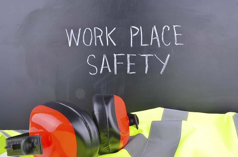 Work Place Safety Inscription