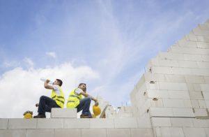 Builders taking a breake