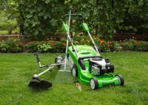 Outdoor shot of garden equipment cm