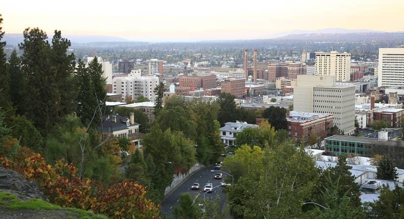 Spokane Evening Skyline In The Fall -cm